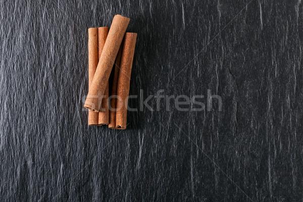 Tarçın taş plaka doğa Noel Stok fotoğraf © user_11224430