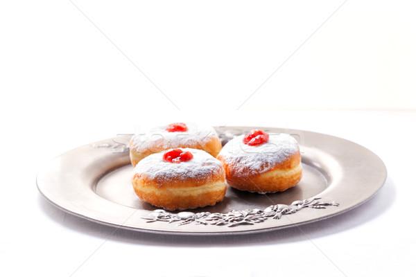 Hannuka Symbols Donuts Stock photo © user_11224430