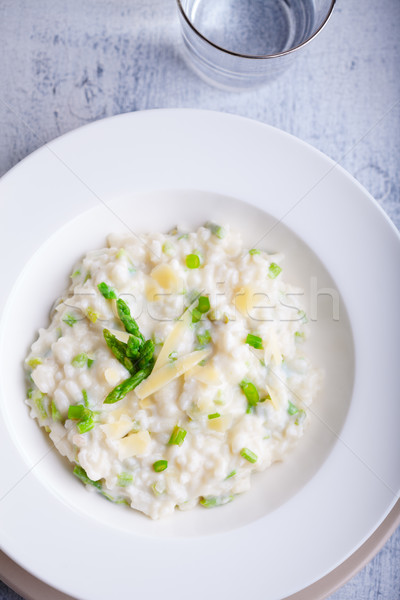 Asparagus Risotto with cheese Stock photo © user_11224430