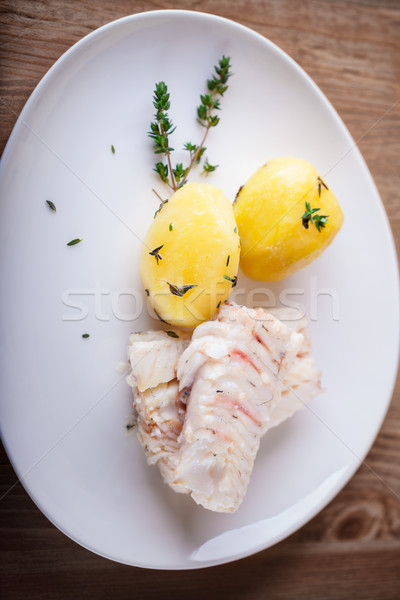 Steamed fish and potato Stock photo © user_11224430