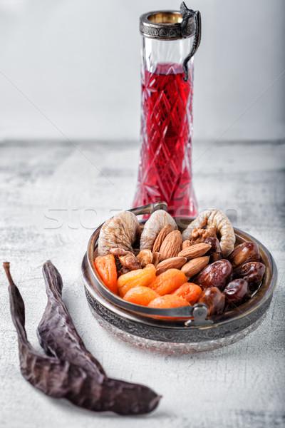 Karışım kurutulmuş meyve fındık gıda tatil Stok fotoğraf © user_11224430