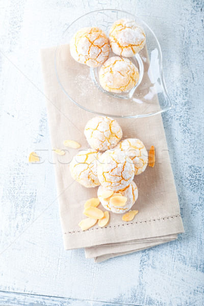французский миндаль Cookies продовольствие зима десерта Сток-фото © user_11224430