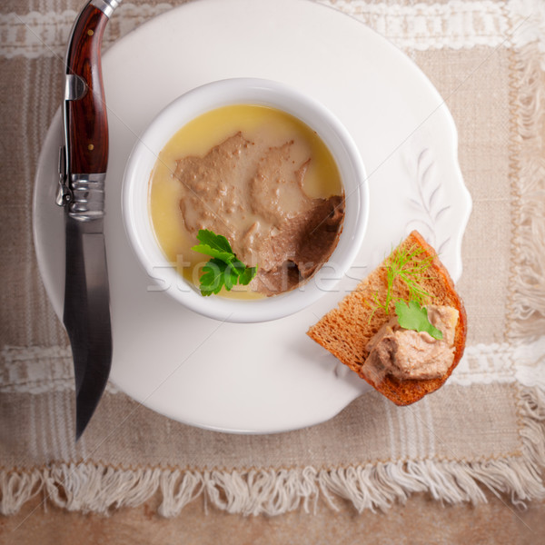 Home made chicken liver pate Stock photo © user_11224430
