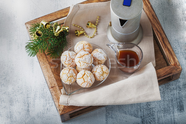 Almonds Cookies Macaroon Stock photo © user_11224430