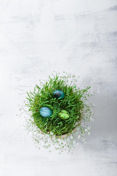 Foto d'archivio: Uovo · fiori · bianco · Pasqua · simboli · uova