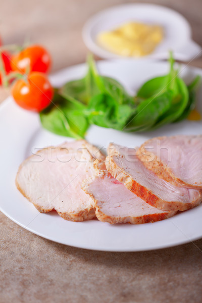 Turkey breast with green salad Stock photo © user_11224430