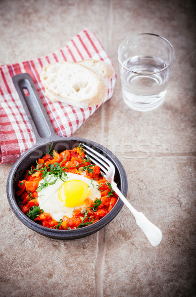 Traditional Middle Eastern dish of Shakshuka Stock photo © user_11224430