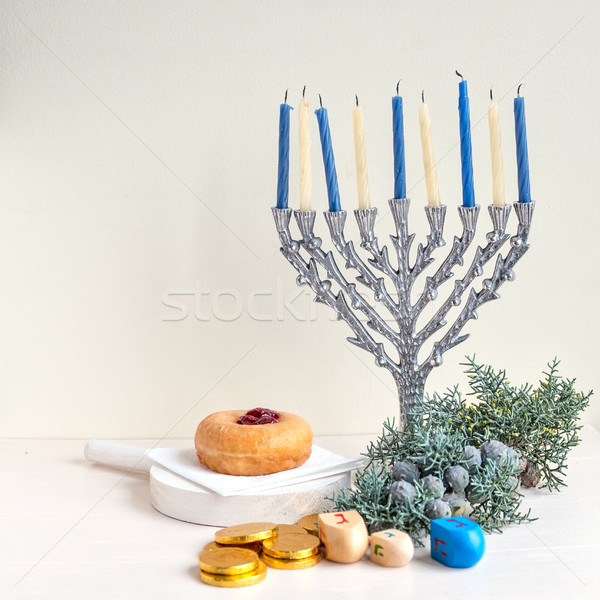 Jewish holiday Hanukkah Stock photo © user_11224430