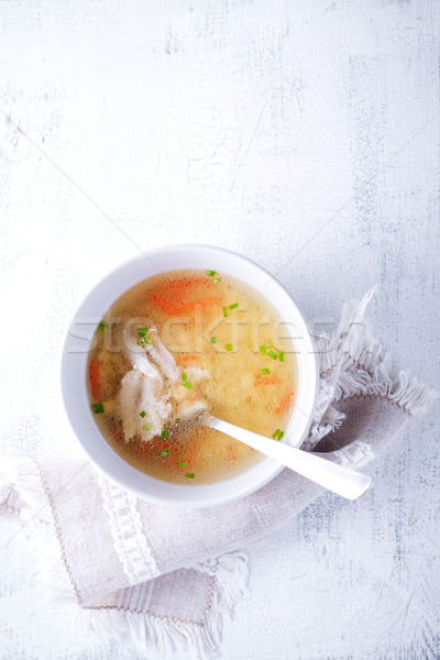 Fresh chicken soup Stock photo © user_11224430