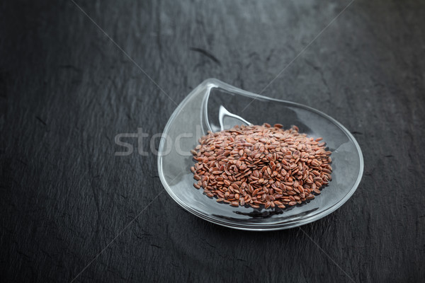 Flax seed in glass bowl  Stock photo © user_11224430