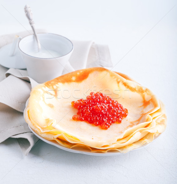 Crepes and caviar Stock photo © user_11224430