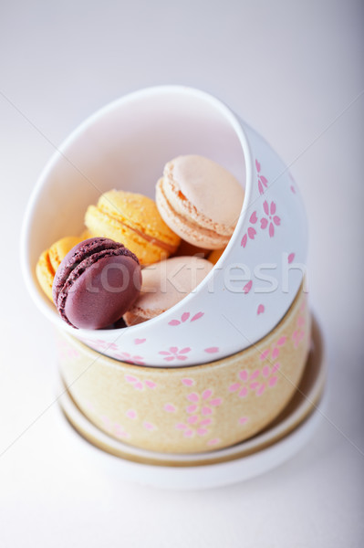 French colorful macaroons Stock photo © user_11224430