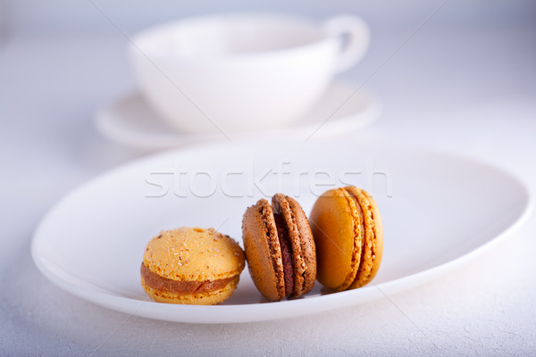 Almond cookies French macaroons Stock photo © user_11224430