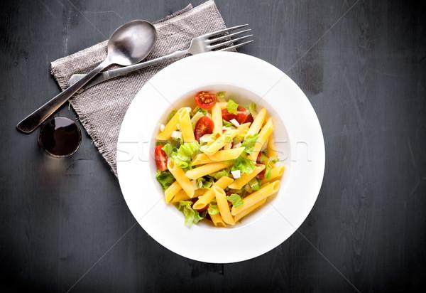 пасты Салат свежие сыра томатный Сток-фото © user_11224430