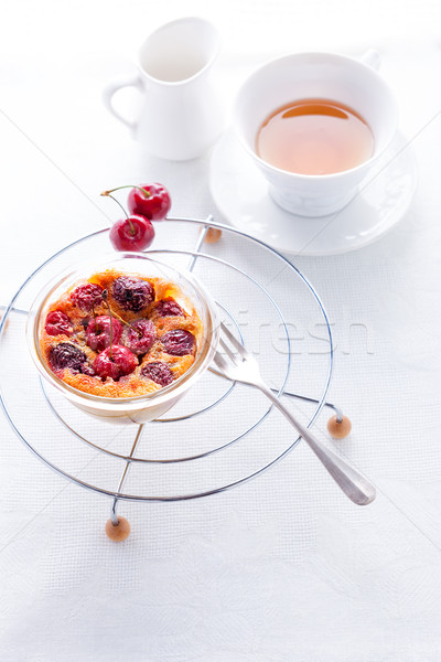 Clafoutis and tea. Stock photo © user_11224430