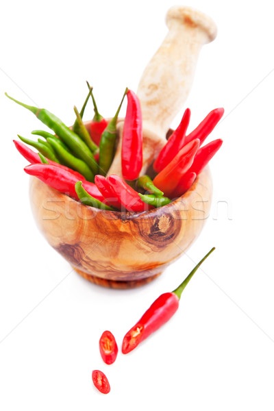 Red and Green Chili Peppers  Stock photo © user_11224430