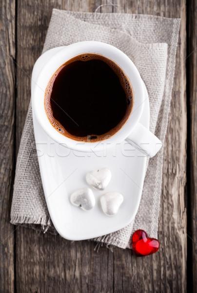 Copo café servido superfície Foto stock © user_11224430