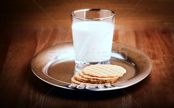Milk and crackers  Stock photo © user_11224430