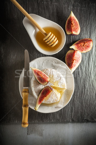 Brie with Figs Stock photo © user_11224430