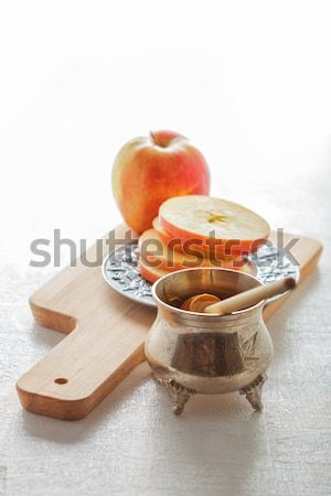 Honey and apples for Rosh Hashanah  Stock photo © user_11224430