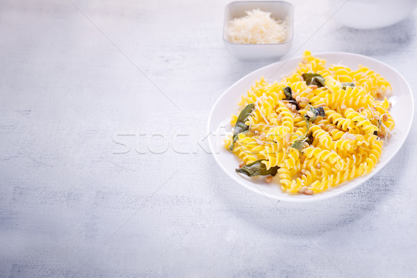Pasta with garlic and sage Stock photo © user_11224430