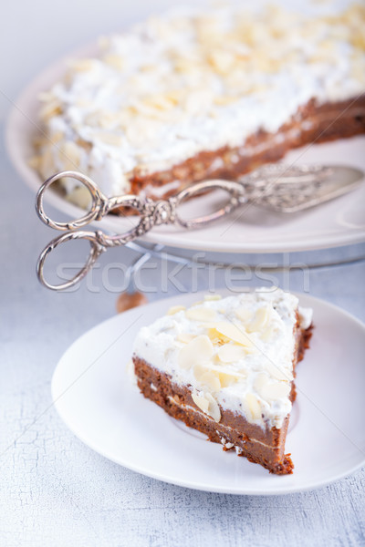 A slice of carrot cake Stock photo © user_11224430