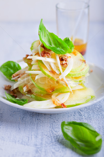 Funcho maçã salada superfície fruto Foto stock © user_11224430