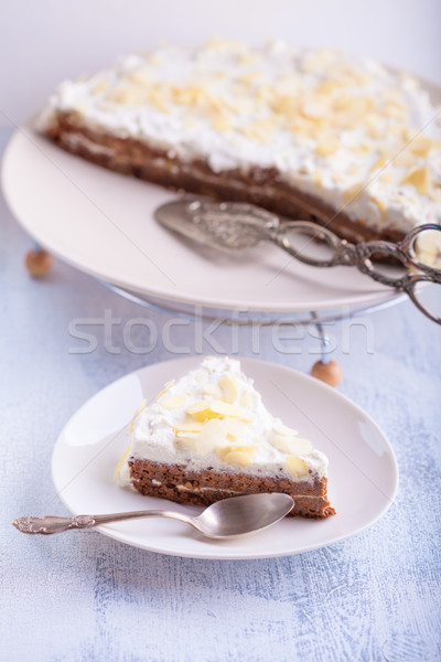 Slice of carrot cake, gluten-free Stock photo © user_11224430