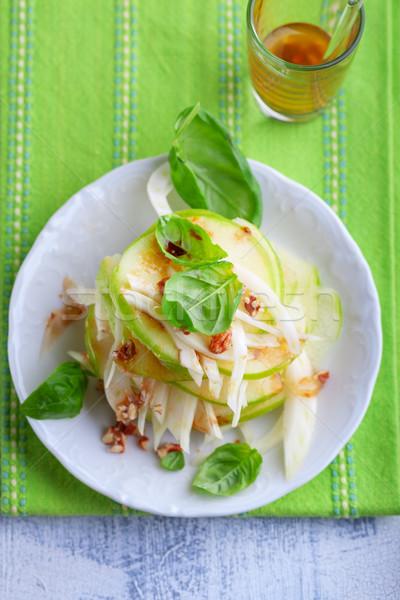 Finocchio mela insalata fresche bianco piatto Foto d'archivio © user_11224430
