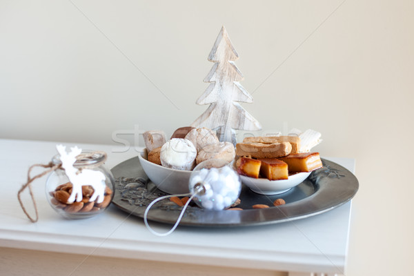 Turron, mantecados and polvorones, typical spanish christmas sweets Stock photo © user_11224430