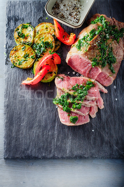 Roast Beef dinner Stock photo © user_11224430
