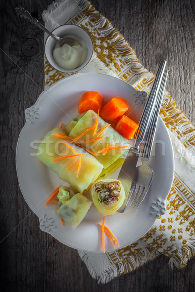 Ripieno cavolo carne riso cena Foto d'archivio © user_11224430