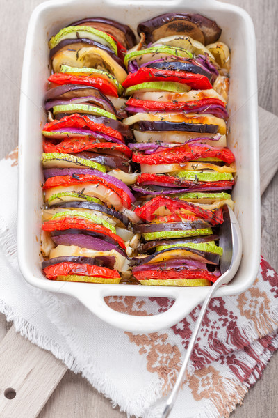 Tian vegetable casserole served on a napkin Stock photo © user_11224430