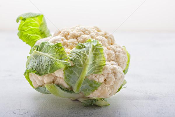 Köteg karfiol fehér felület növény mezőgazdaság Stock fotó © user_11224430