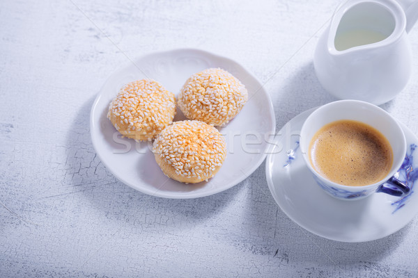 Cookies кофе мучной десерта Сток-фото © user_11224430