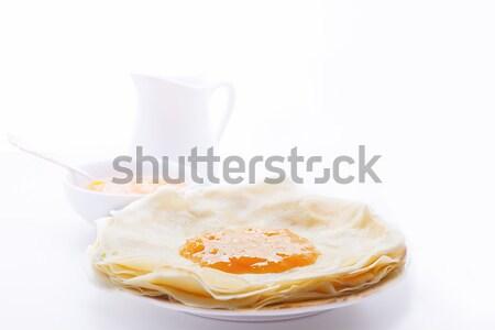 Congestionamento branco prato café da manhã Foto stock © user_11224430