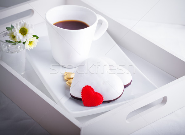 Valentine's Cookies and coffee Stock photo © user_11224430