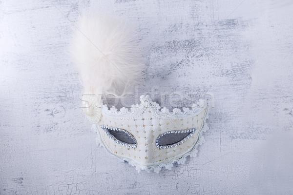 White carnival mask Stock photo © user_11224430