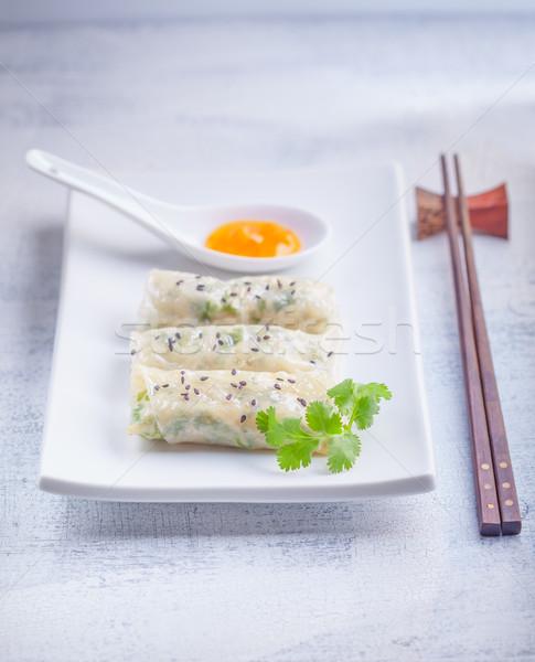 Rice Paper Rolls  Stock photo © user_11224430