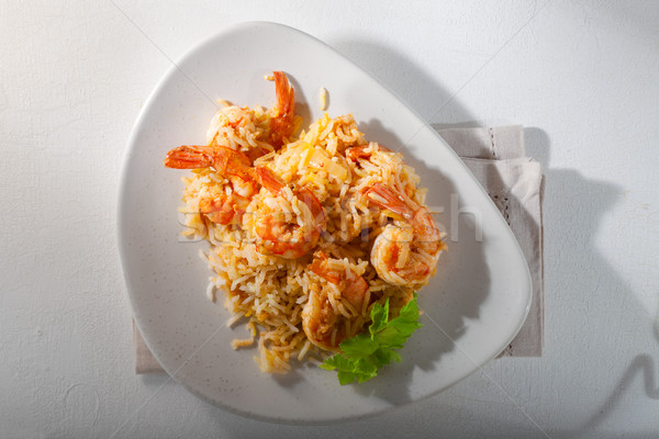 Shrimp and rice meal  Stock photo © user_11224430