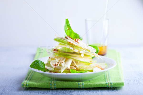 фенхель яблоко Салат белый пластина фрукты Сток-фото © user_11224430