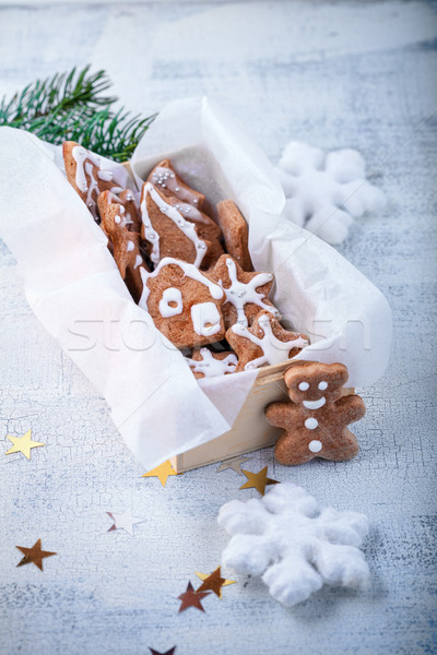 Christmas gingerbread with holiday decoration Stock photo © user_11224430