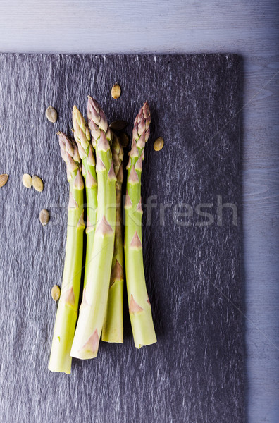 Fresh green Asparagus Stock photo © user_11224430