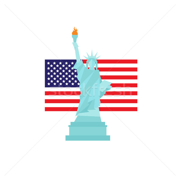 Statue of liberty on usa flag background Stock photo © user_11397493