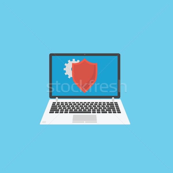 Informazioni sicurezza laptop scudo protezione computer Foto d'archivio © user_11397493