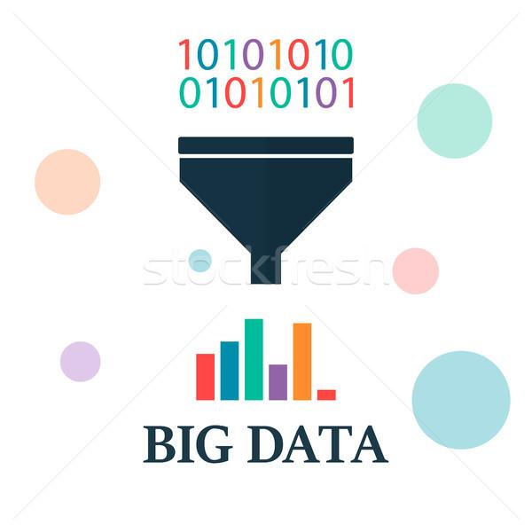 Nagy adat szűrő talál minta technológia Stock fotó © user_11397493
