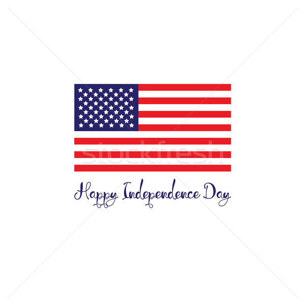 United States of America independence day concept. Red white blue flag with stripes lettering Stock photo © user_11397493