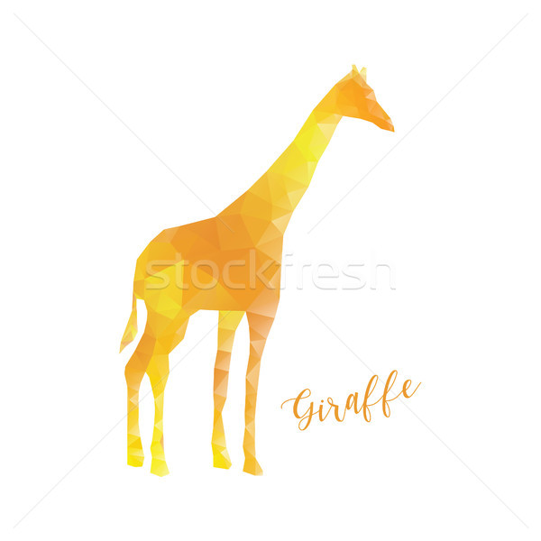 Giraffe in low poly style. Polygonal animal isolated Stock photo © user_11397493