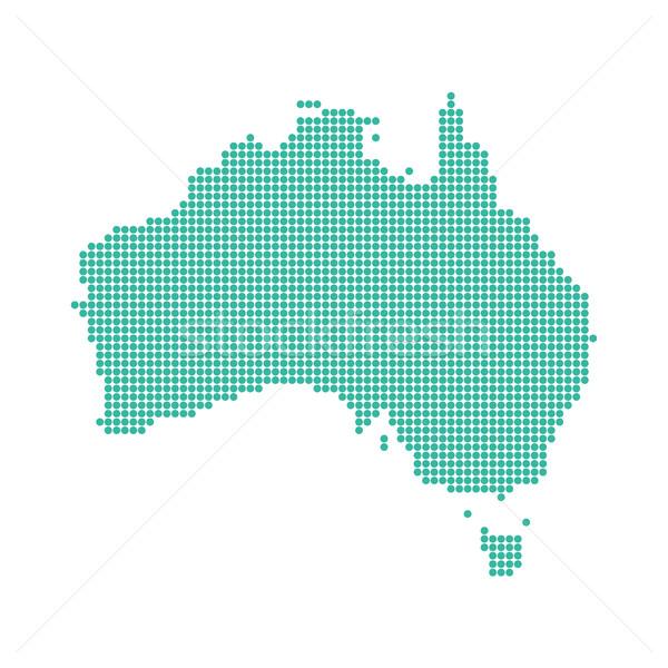 Abstract mappa punteggiata verde isolato bianco Foto d'archivio © user_11397493