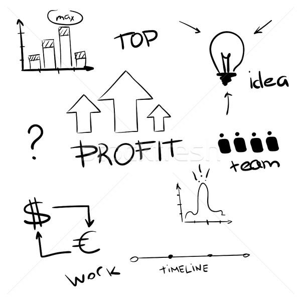 Foto d'archivio: Business · presentazione · grafico · disegno · mano